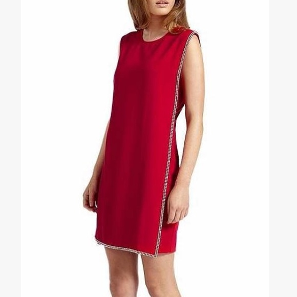 059662cc3 Ted Baker Red Burford Embellished Crystal Dress
